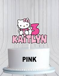 Hello Kitty Birthday Cake Topper Cmpartycreations