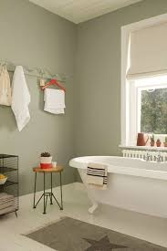 Pale, muted greens make for a serene bathroom space. Try Overtly Olive on  bathroom  Dulux Bathroom PaintColors ...