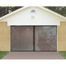 garage door screensIdeaworks Single Garage Door Screen Black JB4868  Walmartcom