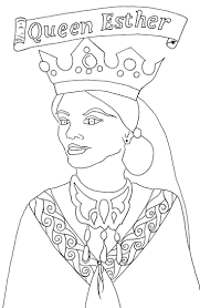 Esther Coloring Page Free Printable Bible