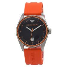 emporio armani ar0526 orange sport mens watch