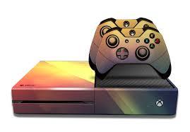 Xbox One Orange Light E Skins Xbox One Gaming Console Skin Light Streaks Red