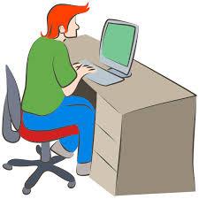 computer desk clipart. Unique Computer Man Using Computer With Desk Clipart I