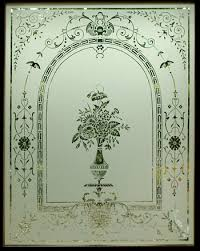 a victorian acid etched glass door reion stirling scotland
