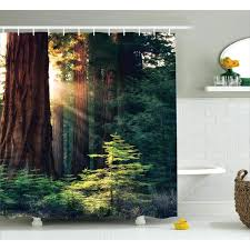 nature shower curtains photography curtain