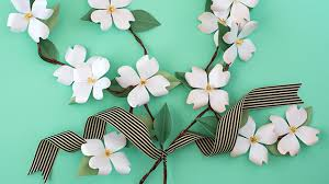 Paper Flower Branches How To Make Paper Flower Dogwood Branches Youtube
