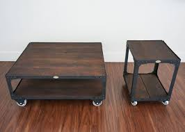 industrial furniture style. Matching Industrial Furniture - Wood Top Coffee Table And End Set  Industrial Furniture Style