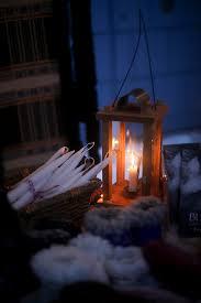 Швеция. Провинция Даларна. Свечи на снегу.