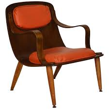 mid century bent plywood chair for at 1stdibs