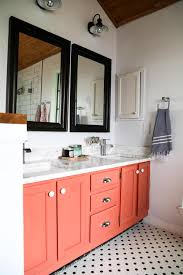 bathroom remodel black vanity. Exellent Bathroom A Master Bathroom Remodel With A Coral Vanity And Black White Hex Tile  On The Inside Bathroom Remodel Black Vanity B
