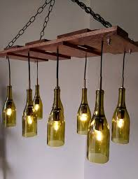 gorgeous wine bottle light fixture chandelier learn how to build a wine bottle chandelier page 1