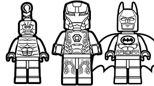 Small Picture Lego Iron Man vs Lego Batman vs Lego Scorpion Coloring Pages