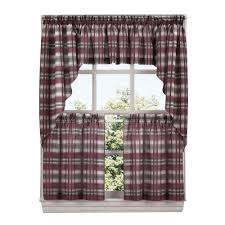 Red Plaid Kitchen Curtains 73 Curtains Drapes