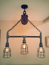 fine black pipe lighting black pipe light fixture awesome gorgeous pulley island best ideas about on