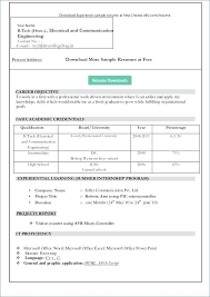 Download Resume Templates For Microsoft Word 2010 Resume Sample