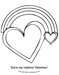 Small Picture Youre My Rainbow Valentine Free Coloring Pages for Kids