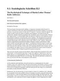 adorno theodor psychological technique martin luther thomas radio adorno theodor psychological technique martin luther thomas radio addresses fascism