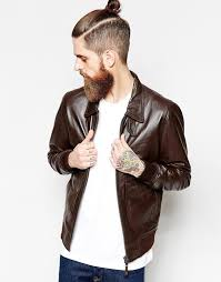 schott leather jacket with collar