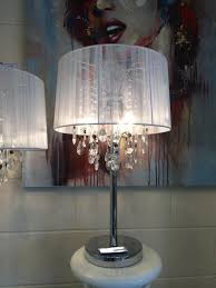 home gorgeous shabby chic lighting chandelier 47 lg large white thread crystal table lamp 1 shabby