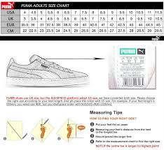 Puma Creepers Size Chart Sochim Com