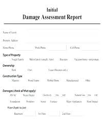 Awesome Vehicle Damage Report Form Template Accident