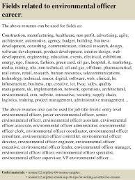 Environmental Officer Sample Resume Enchanting Top 44 Environmental Officer Resume Samples