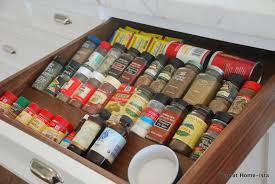 Diy Kitchen Drawer Dividers Kitchen Creative Spice Drawer Insert For Spice Organizer Idea