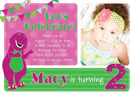 barney party invitation template barney birthday invitations alanarasbach com