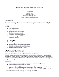 Account Payable Resume Display Your Skills As Account Payable