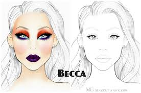 Free Printable Face Charts For Makeup Artists Free Printable Face Charts For Makeup Makeup Vidalondon In
