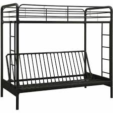 Bunk Bed With Couch And Desk Dhp Twin Over Futon Metal Bunk Bed Multiple Colors Walmartcom