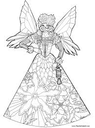 Small Picture Ice Fairy Princess Coloring Page