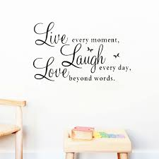 Live Laugh Love Quotes Extraordinary Live Laugh Love Quotes Wall Decals Home Decoration Removable Diy