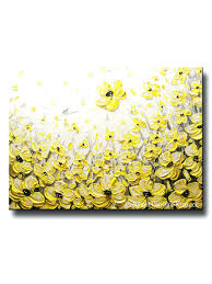 oopsy daisy too sunshine yellow flower wall art