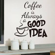 coffee words cups kitchen wall art