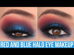 red blue patriotic glam halo eye makeup tutorial kelli marissa