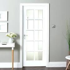 interior doors slab shaker solid glazed internal door with glass frosted pine s