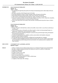 Massage Resume Examples Lead Massage Therapist Resume Samples Velvet Jobs 13