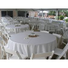 tablecloth properly havana color swatches 84 round table setting in garden white havana event linens