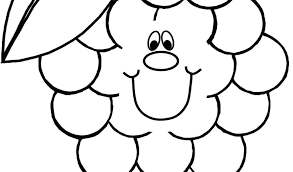Raisins Coloring Page Apple Coloring Page Grape Pages For Kids