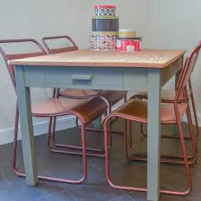 image of vintage metal dining chairs paint
