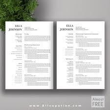 The Modern Resume Allcupation Free Or Almost Free Professional Resume Template Cv Free 24
