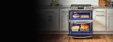be a boss in the kitchen open lg oven with food set in a luxury
