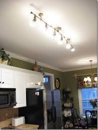 Amazing Pretty Track Lights (antique Brass Finish) With Adjustable Spotlights From  Lowes To Replace Fluorescent Great Ideas