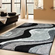 Living Room Rugs For Luxurious Handmade Area Rug For Indoor Living Room In Grey With