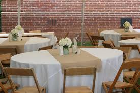 burlap table runner wedding design ideas of old burlap runner on round table becoming the piersons
