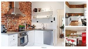brick wall texture and pattern are modern interior design trends that create unique modern kitchens with various real and fake brick wall surfaces antique
