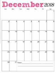 Free Printable December 2018 Vertical Calendar Just Stuff