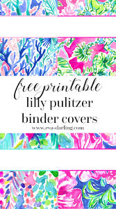 Printable Binder Cover Free Printable Preppy Lilly Pulitzer Binder Covers