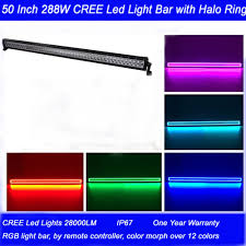 50 Inch Light Bar Halo Straight 50 Flood Spot Combo Beam 3w Cree Led 28000 Lumen With Halo Ring Waterproof Off Road Led Light Bar Color Changing Light Leds Light Portable